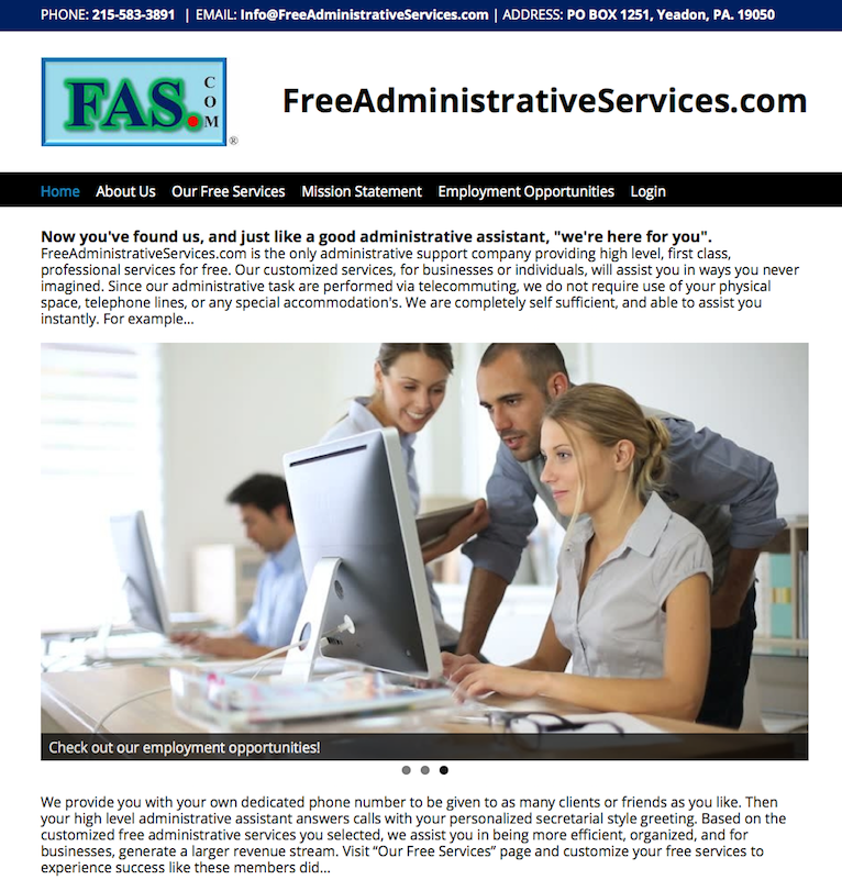 www.freeadministrativeservices.com